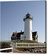 Nobska Lighthouse On Cape Cod At Woods Hole Massachusetts Canvas Print