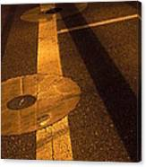 Nocturnal Street Shadows Canvas Print