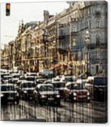 Noise In The City Canvas Print