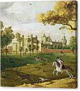 Nonsuch Palace In The Time Of King Canvas Print