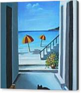 Noon At The Beach Canvas Print