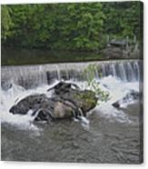 Nora Mill Dam - Chattahoochee River Canvas Print