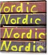 Nordic Rusty Steel Canvas Print