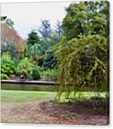 Norfolk Botanical Gardens Canal Canvas Print