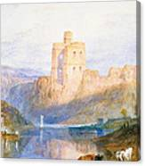 Norham Castle An Illustration To Marmion By Sir Walter Scott Canvas Print