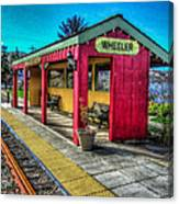 Norm Laknes Train Station Canvas Print