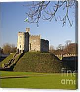 Norman Keep Cardiff Castle Canvas Print