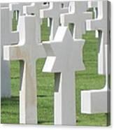 Normandy American Cemetery Canvas Print