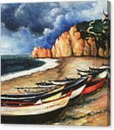 Normandy Coast - Landscape Oil Canvas Print