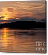 Norris Lake Sunrise Canvas Print