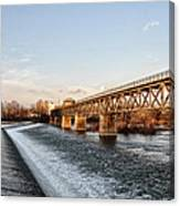 Norristown Dam And Railroad Bridge Canvas Print