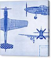 North American P-51d Mustang Canvas Print