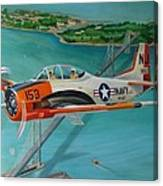 North American T-28 Trainer Canvas Print