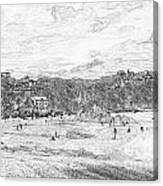 North Beach Tenby Canvas Print