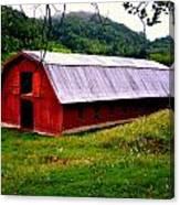 North Carolina Red Barn Canvas Print