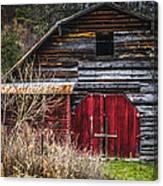 North Carolina Red Door Barn Canvas Print