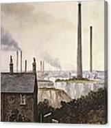 North Kent Landscape  Nr Northfleet Gravesend Canvas Print
