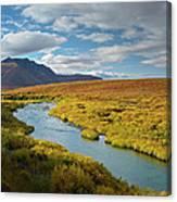 North Klondike River Flowing Canvas Print