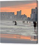 North Myrtle Beach At Sunset Canvas Print