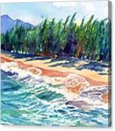 North Shore Beach 2 Canvas Print