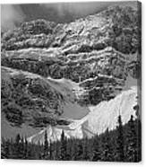 1m3536-bw-north Side Crowfoot Mountain  Canvas Print