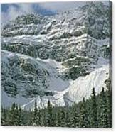 1m3536-north Side Of Crowfoot Mountain Canvas Print