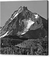 105615-north Sister Or,bw Canvas Print