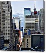North Up Seventh Avenue Canvas Print