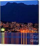 North Vancouver At Dusk Canvas Print