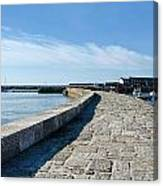North Wall - Lyme Regis Harbour 2 Canvas Print
