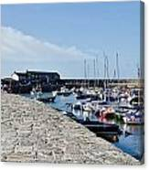 North Wall - Lyme Regis Harbour Canvas Print