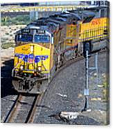 Northbound From Roseville At The Crooked Bridge Canvas Print