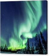 Northern Lights Close To Yellowknife In Canvas Print