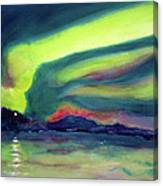 Northern Lights On Superior Shores Canvas Print