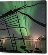 Northern Lights Rays Canvas Print