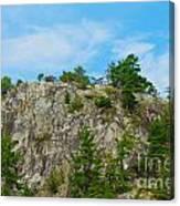 Northern Ontario Rock Face Canvas Print