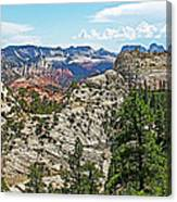 Northgate Peaks Trail From Kolob Terrace Road In Zion National Park-utah Canvas Print