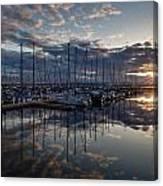 Northwest Marina Sunset Sunstar Canvas Print