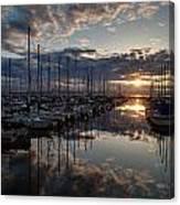 Northwest Sunset Marina Canvas Print