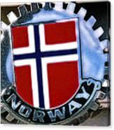 Norway Car Emblem Canvas Print