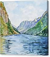 Norway Fjord Canvas Print