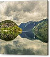 Norway Serenity In Panorama Canvas Print
