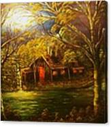 Norwegian Evening Glow- Original Sold - Buy Giclee Print Nr 31 Of Limited Edition Of 40 Prints  Canvas Print