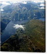 Norwegian Fjord From On High Canvas Print