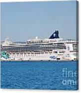Norwegian Jade Cruise Ship Corfu Canvas Print