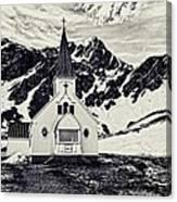 Norwegian Lutheran Church Grytviken Canvas Print