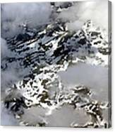 Norwegian Mountains From On High Canvas Print