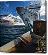 Norwegian Sky Carnival Sensation And Royal Caribbean Majesty Canvas Print