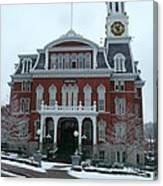 Norwich City Hall In Winter Canvas Print