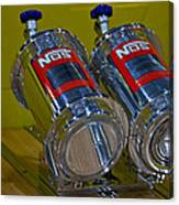 Nos Bottles In A Racing Truck Trunk Canvas Print